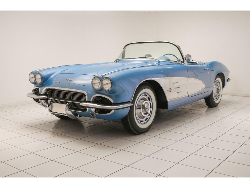 Occasion Chevrolet Corvette Jewel Blue / White C1 Convertible 1961