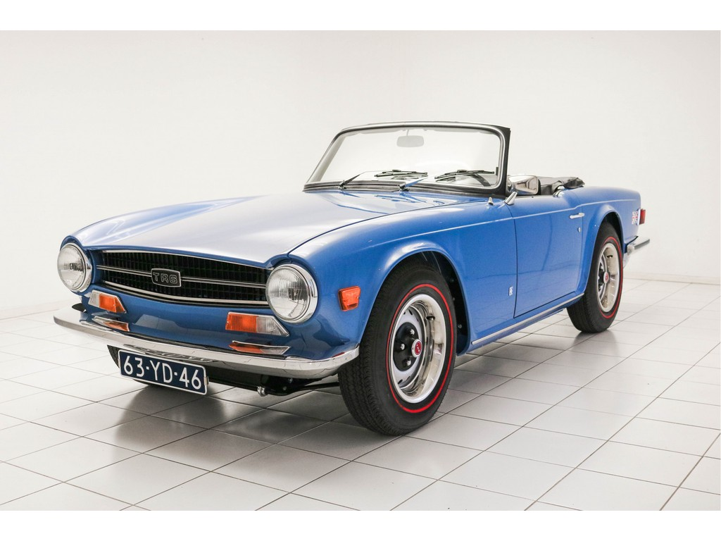 Occasion Triumph TR 6 French Blue Convertible 1973