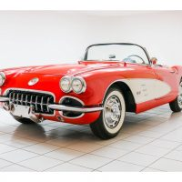 Chevrolet Corvette C1 Convertible Roman Red / Snowcrest White 1959 1