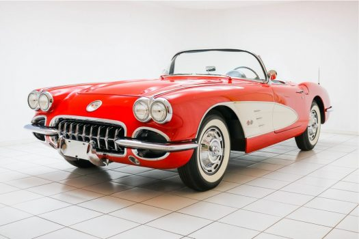 Chevrolet Corvette C1 Convertible Roman Red / Snowcrest White 1959 50