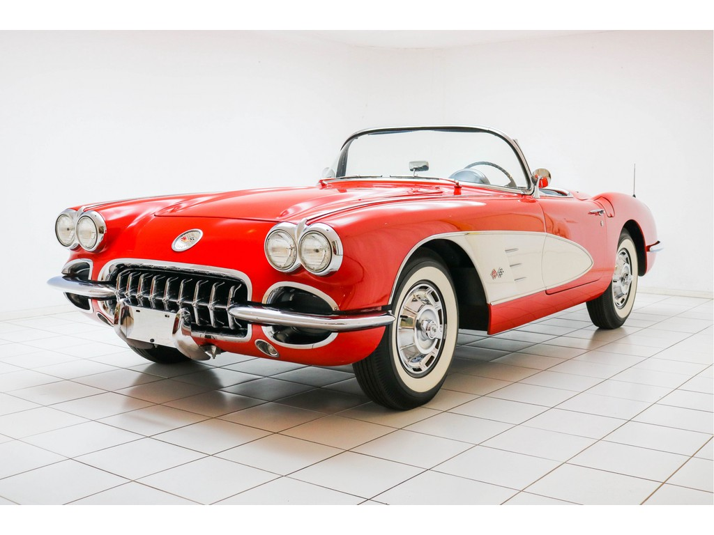Occasion Chevrolet Corvette Roman Red / Snowcrest White C1 Convertible 1959