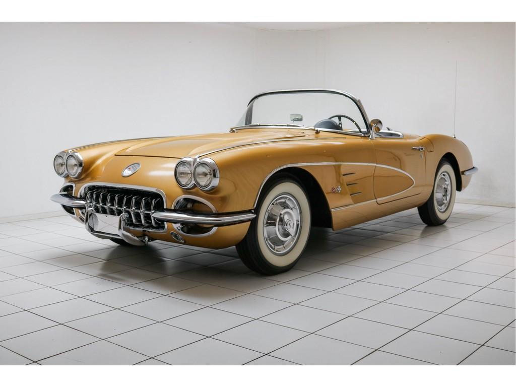 Occasion Chevrolet Corvette Anniversary Gold C1 Convertible 1958