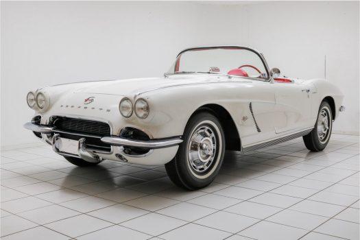 Chevrolet Corvette C1 Convertible Ermine White 1962 2