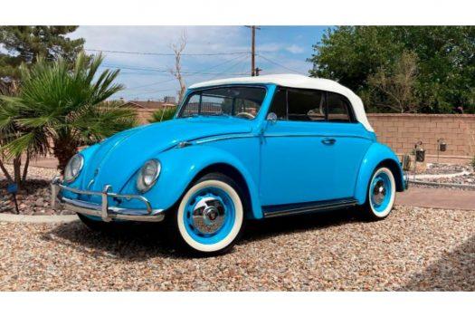 Volkswagen Kever Cabrio Sky Blue 1959 2