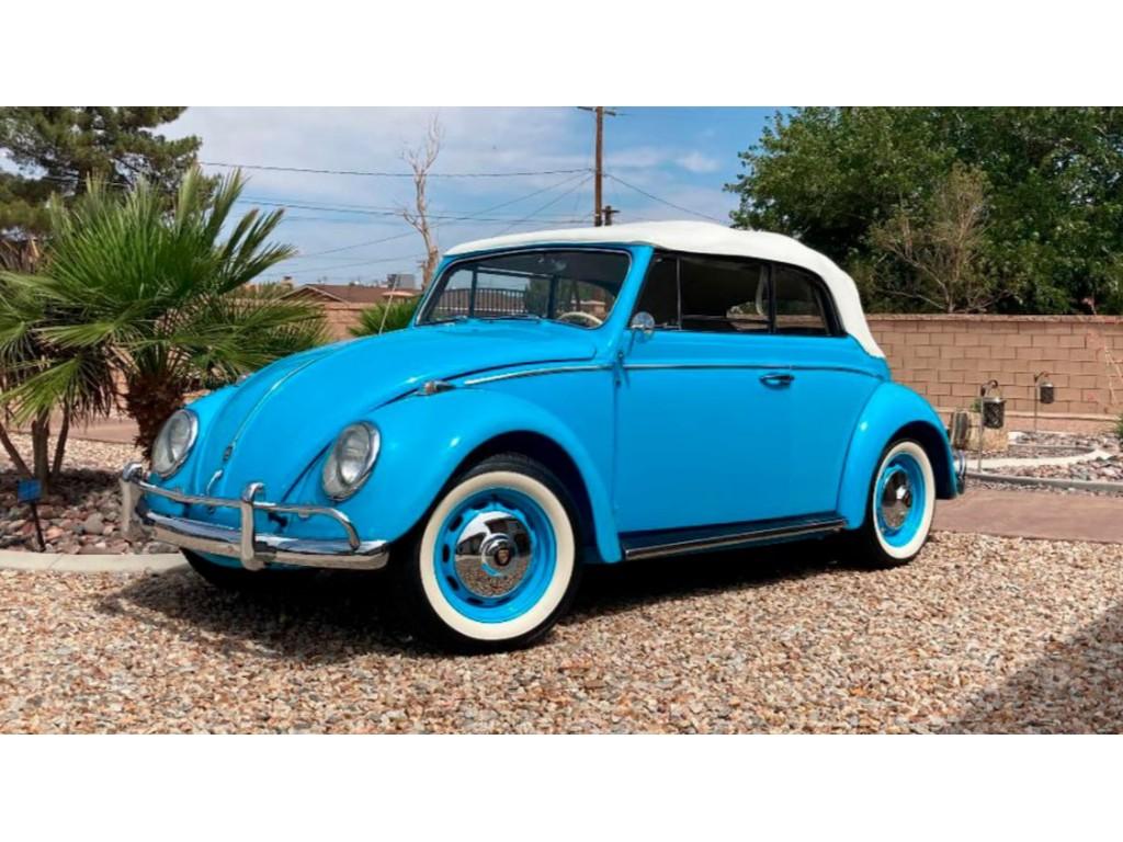 Occasion Volkswagen Kever Sky Blue Cabrio 1959